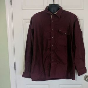 Orvis Maroon Fleece Shirt